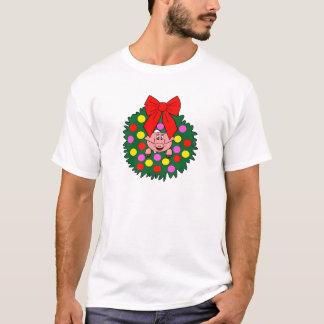 Camiseta Porco na grinalda do Natal