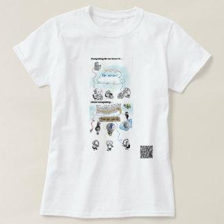 Camiseta Porque a nuvem que computa é uma ideia má