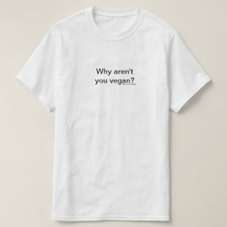Camiseta Porque não é você vegan.