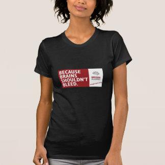 Camiseta Porque os cérebros não devem sangrar