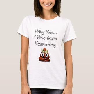 Camiseta Porque sim eu era t-shirt nascido de Emoji de