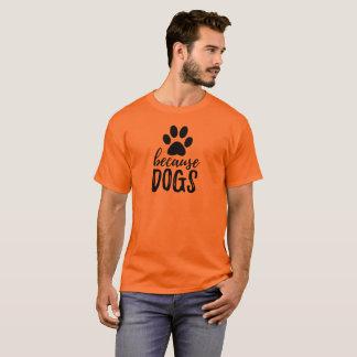 Camiseta Porque t-shirt do impressão da pata dos cães -