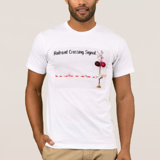 Camiseta Porta do sinal de cruzamento da estrada de ferro