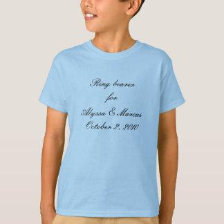 Camiseta Portador de anel para o ________