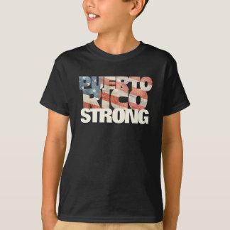 Camiseta Porto-riquenho forte da bandeira americana de