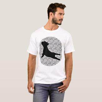 Camiseta Pose ascendente do cão da ioga - amantes