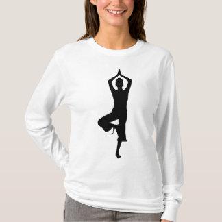 Camiseta Pose da Menina-Árvore da ioga