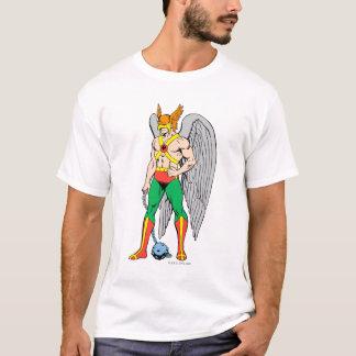 Camiseta Pose da posição de Hawkman