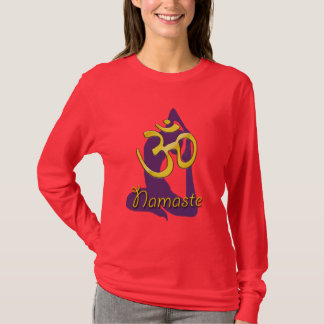 Camiseta Pose do pombo do iogue, t-shirt de Namaste