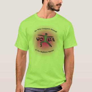Camiseta Pose Virabhadrasana do guerreiro do t-shirt da