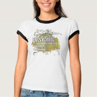 Camiseta Posição do poder de Discus.The. O bloco. A entrega