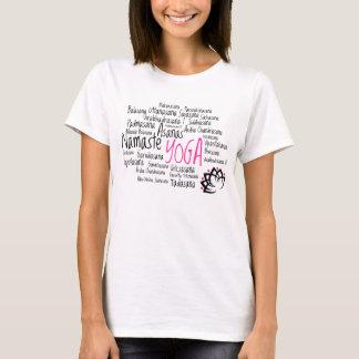 Camiseta Posições da ioga e poses Asanas em sânscrito