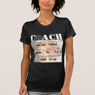 Camiseta Posições do jogador e treinador do Netball do