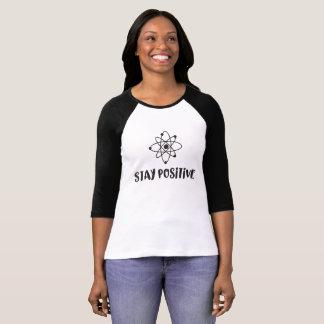 Camiseta Positividade científica engraçada positiva da
