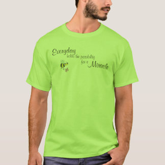 Camiseta Posses diárias a possibilidade para um milagre