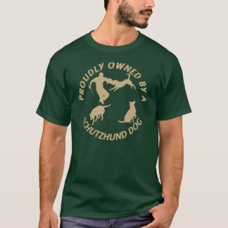 Camiseta Possuído orgulhosa por um cão de Schutzhund