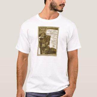 Camiseta Poster 1897 do trem do vintage da estrada de ferro