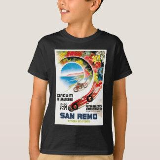 Camiseta Poster 1947 grande da raça de San Remo Prix