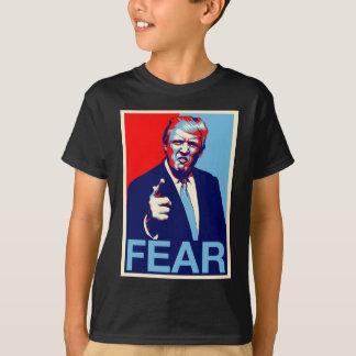 """Camiseta Poster 2017 da paródia do """"medo"""" de Donald Trump"""