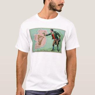 Camiseta Poster da ilha dos erin do dia de Patrick de santo