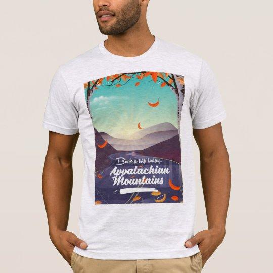 Camiseta Poster das viagens vintage das montanhas apalaches