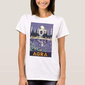 Camiseta Poster das viagens vintage de Agra