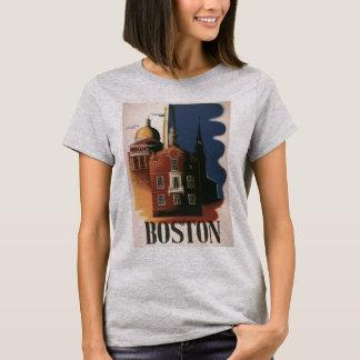 Camiseta Poster das viagens vintage de Boston,