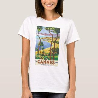 Camiseta Poster das viagens vintage de Cannes Cote d'Azur