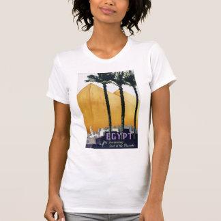 Camiseta Poster das viagens vintage de Egipto restaurado