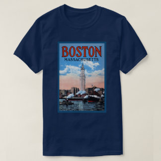Camiseta Poster das viagens vintage de Massachusetts do