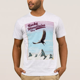 Camiseta Poster das viagens vintage dos EUA das montanhas
