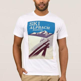 Camiseta Poster de viagens austríaco do esqui de Alpbach
