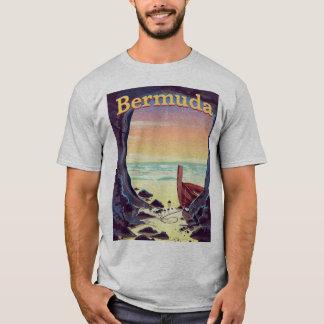 Camiseta Poster de viagens da caverna do pirata de Bermuda