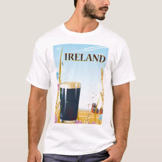 Camiseta Poster de viagens da paisagem da pinta de Ireland
