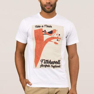 Camiseta Poster de viagens da praia de Titchwell Norfolk