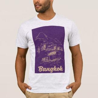 Camiseta Poster de viagens de Banguecoque, Tailândia
