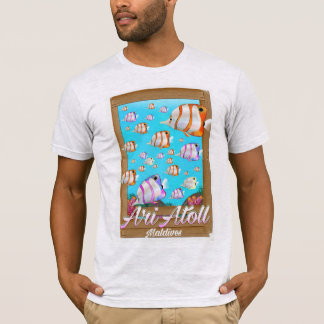 Camiseta Poster de viagens de Maldives do atol de Ari