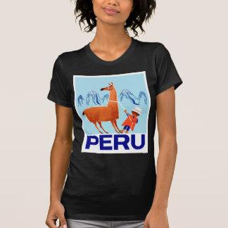Camiseta Poster de viagens de Peru da criança e do lama do