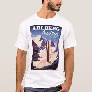 Camiseta Poster de viagens do esqui de Arlberg Áustria