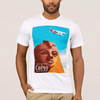 Camiseta Poster de viagens do estilo do vintage do Cairo