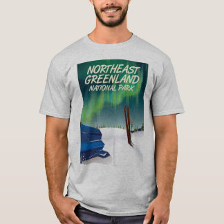 Camiseta Poster de viagens do nordeste de Greenland