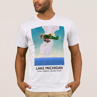 Camiseta Poster de viagens do vôo do Lago Michigan