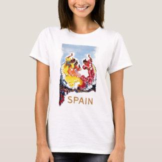 Camiseta Poster de viagens dos dançarinos do Flamenco da