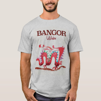 Camiseta Poster do dragão de Bangor Wales
