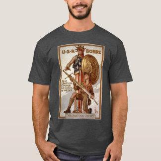 Camiseta Poster do empréstimo da liberdade do escuteiro de