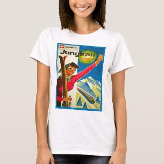 Camiseta Poster do esqui do vintage, região de Jungfrau,