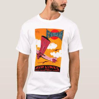 Camiseta Poster do Monoplane das linhas aéreas F-170 dos