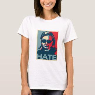 Camiseta Poster do Obama-estilo do ódio de Hillary Clinton