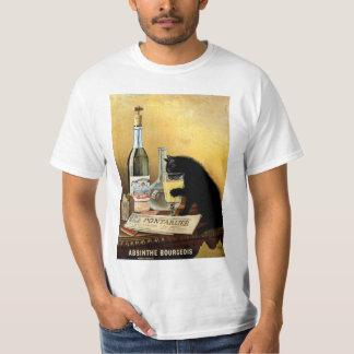 """Camiseta Poster francês retro o """"absinto do vintage burguês"""