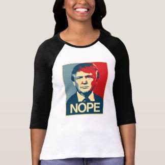 Camiseta Poster Nope - Donald Trump -